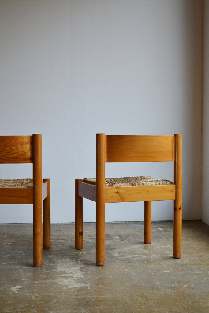 Set of 4 Rush Seated Chairs by Knud Friis & Elmar Moltke Nielsen