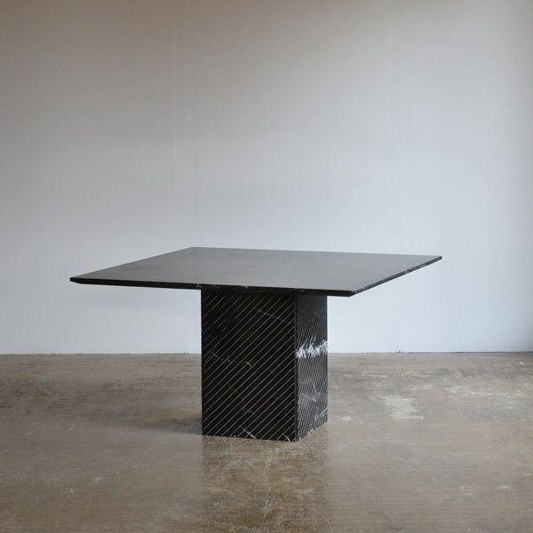 Large Black Marble Dining Table