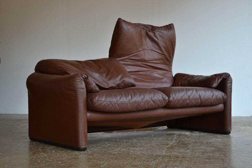 "Vico Magistretti for Cassina ""Maralunga"" Two Seater Sofa"