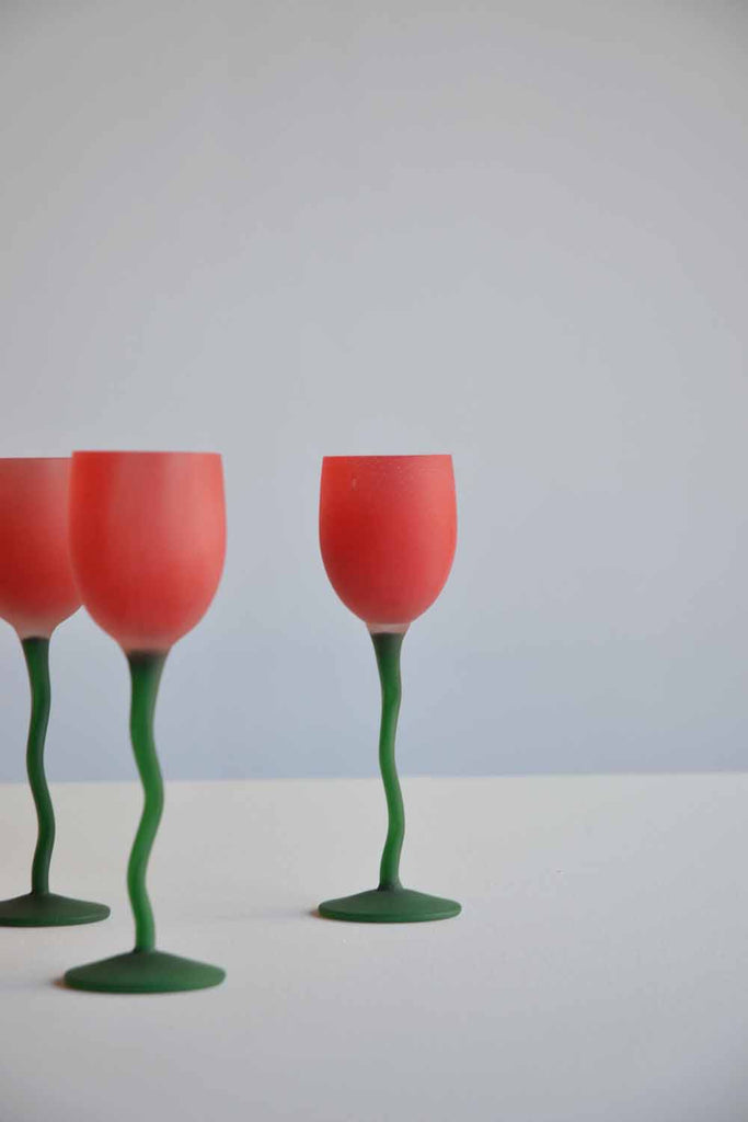 Set of 5 Post Modern Glasses