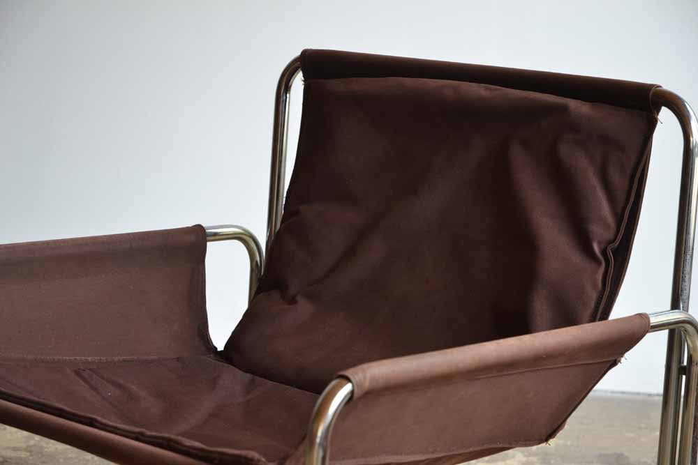 Pair of Tubular & Canvas Chairs