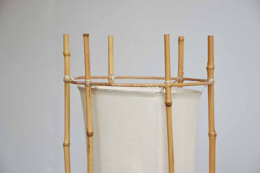 Louis Sognot Bamboo  Lamp