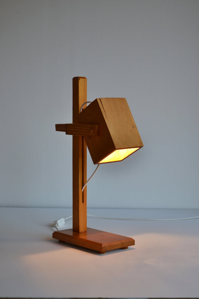 Dutch 1960's Timber Table Lamp