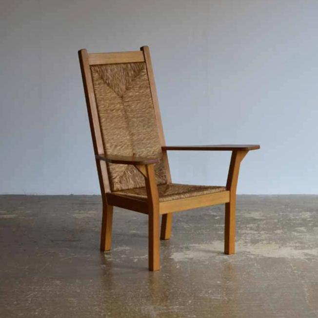 Worpsweder High Back Armchair by Willy Ohler