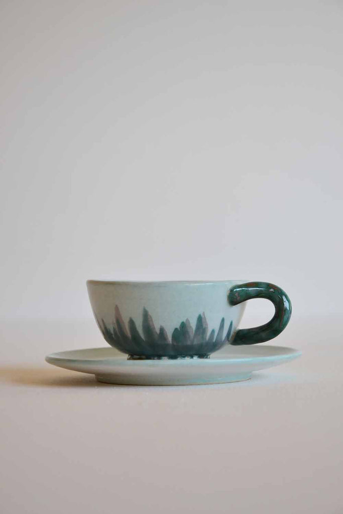 Set of 6 Coffee Cups and Saucers