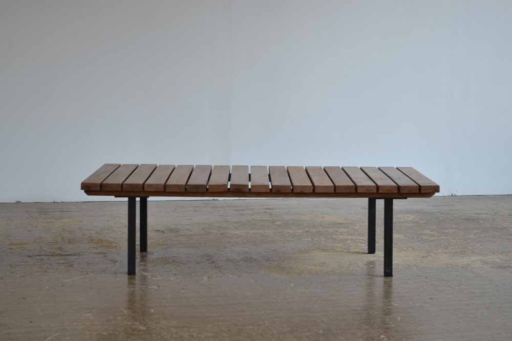 French 1960's Modernist Slatted Coffee Table