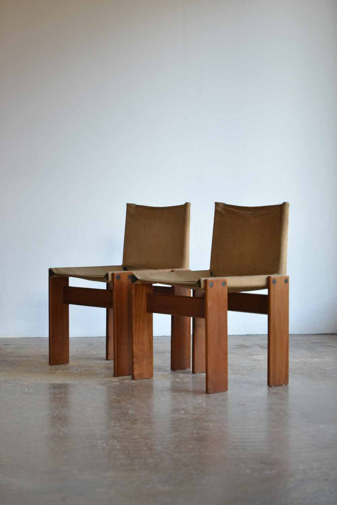 Set of 4 Afra & Tobia Scarpa Monk Chairs