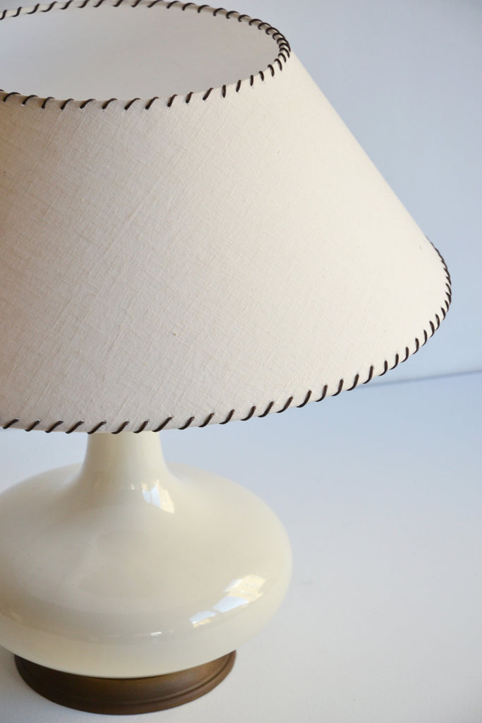 Pair of Giant Italian Ceramic Table Lamps