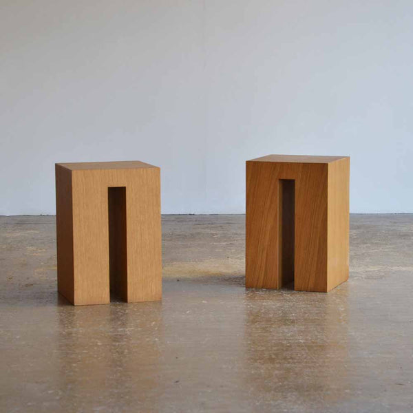 Pair of Block Stools / Tables