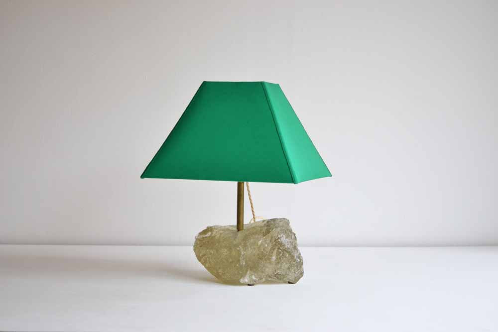 Raw Glass Table Lamp