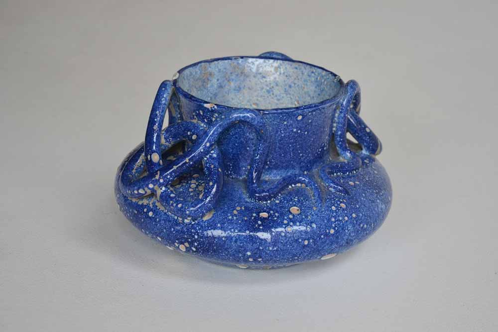 Blue Serpent Vase