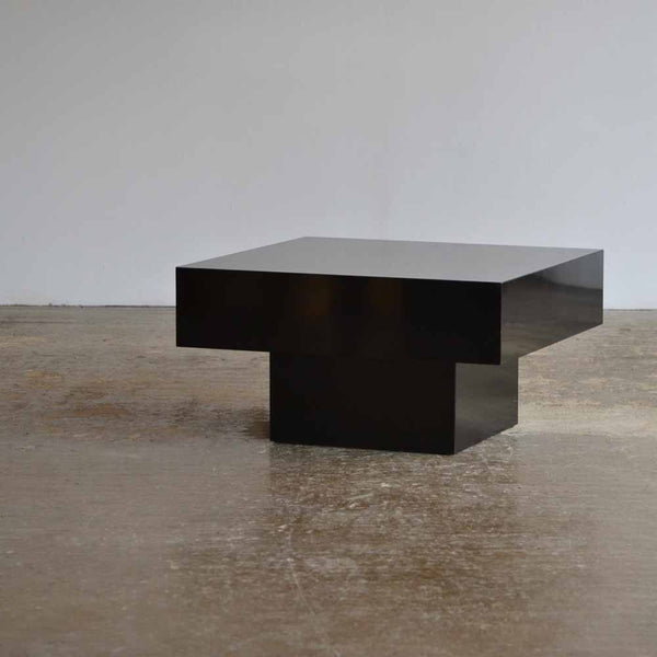 Black Plinth Coffee Table