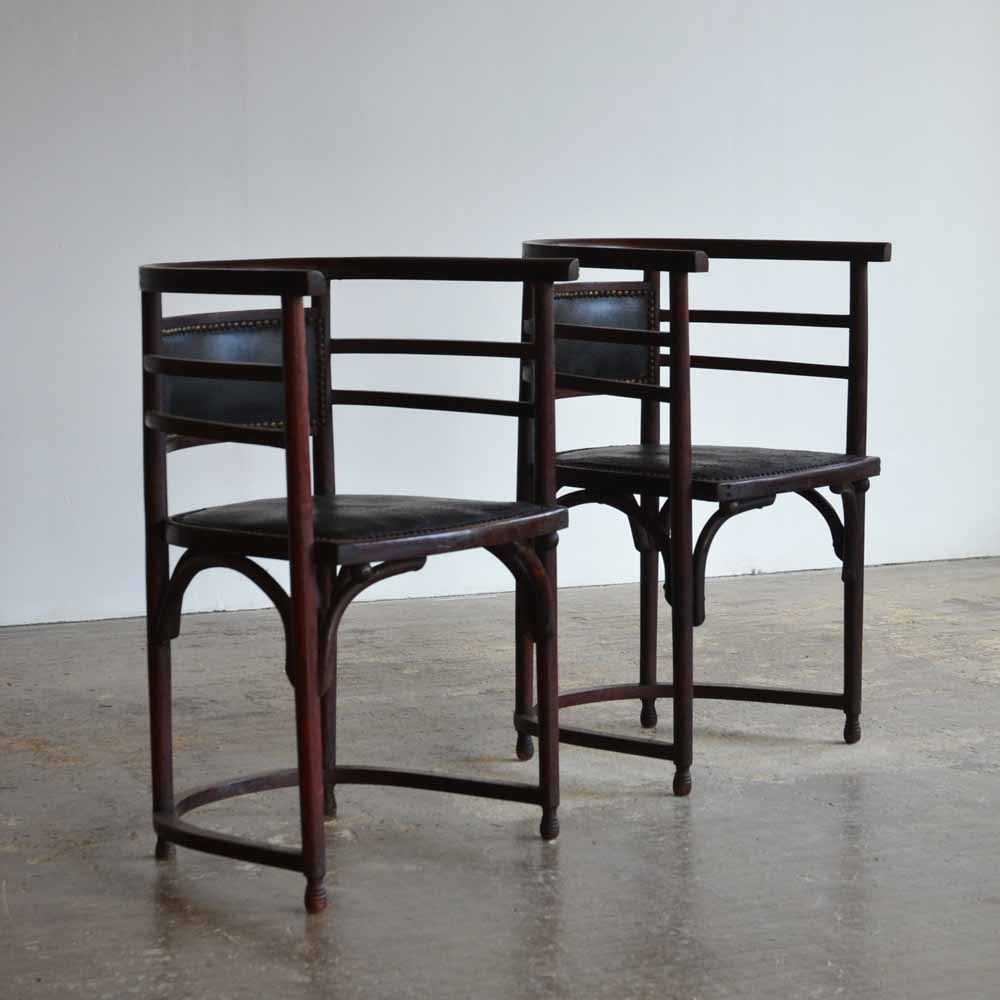 Pair of Bentwood Chairs in the Manner of Josef Hoffman