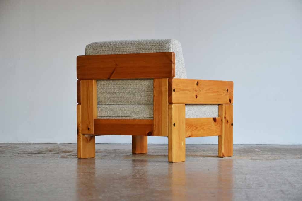 Pair of Pine Armchairs