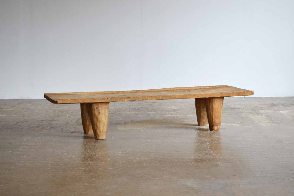 Hand Carved African Senufo Bench / Coffee table