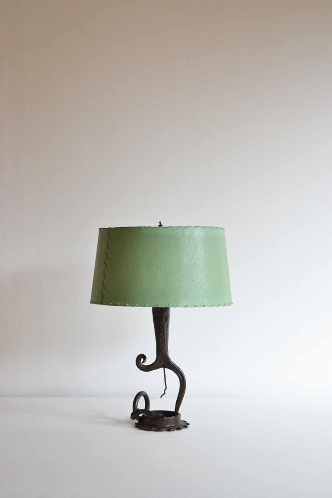 Surrealist French Iron Table Lamp