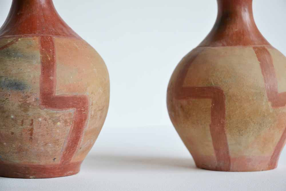 Pair of Pre-Columbian Style Terracotta Vases