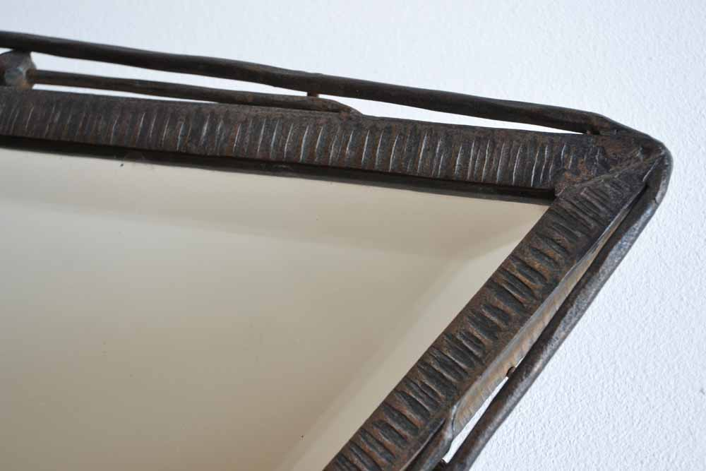 Triangular Metal Mirror