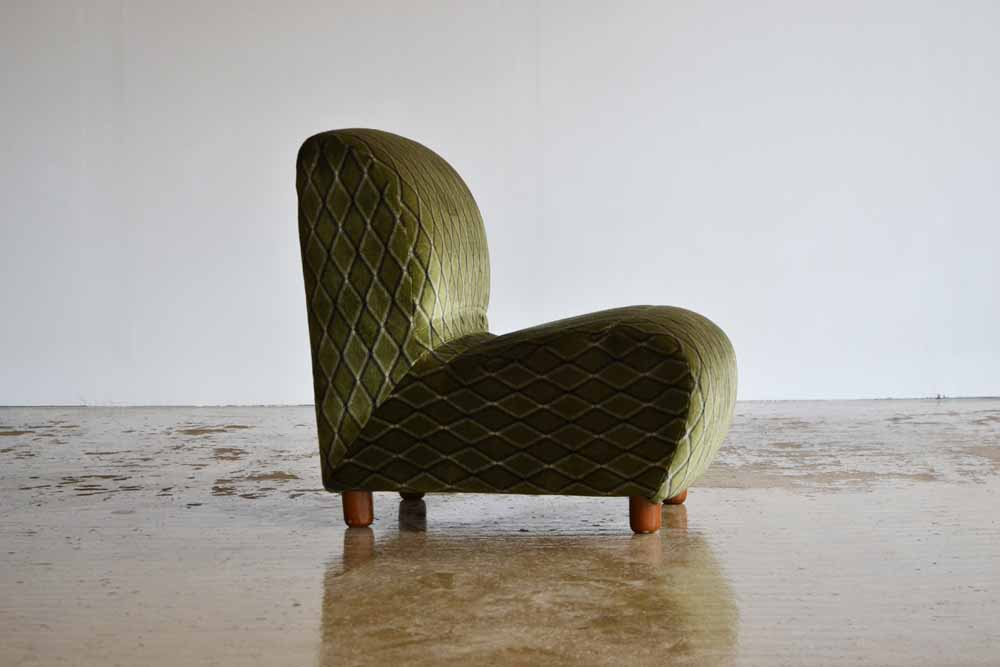 Green 1970's Harlequin Chair