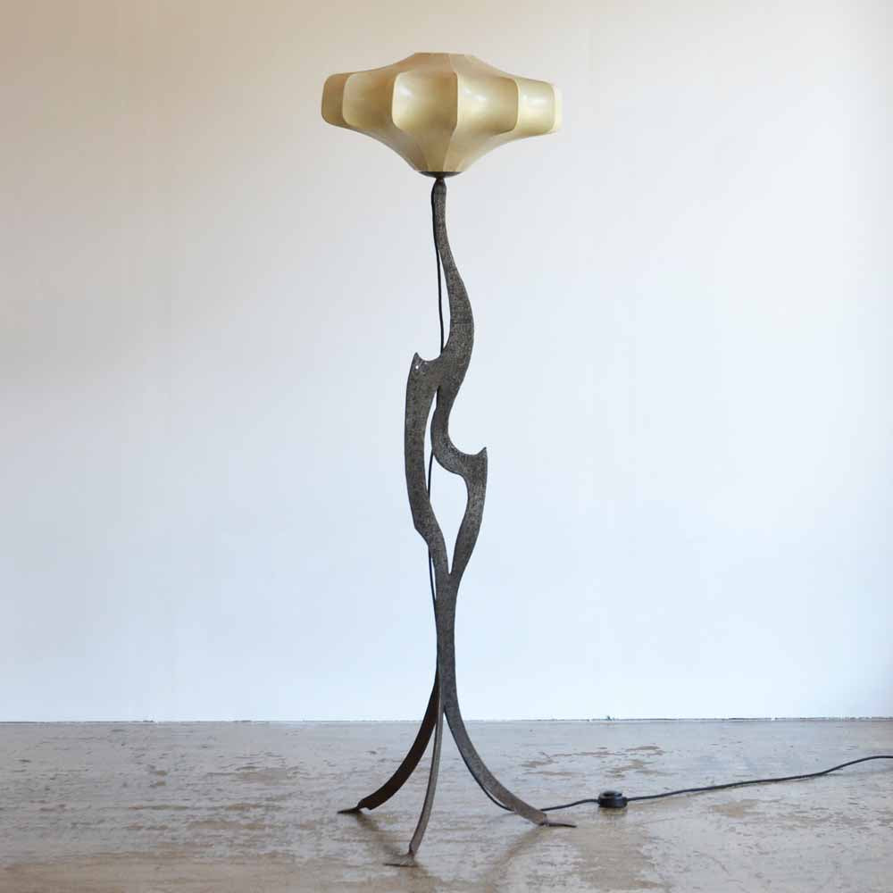 French Metal Sculpture Floor Lamp