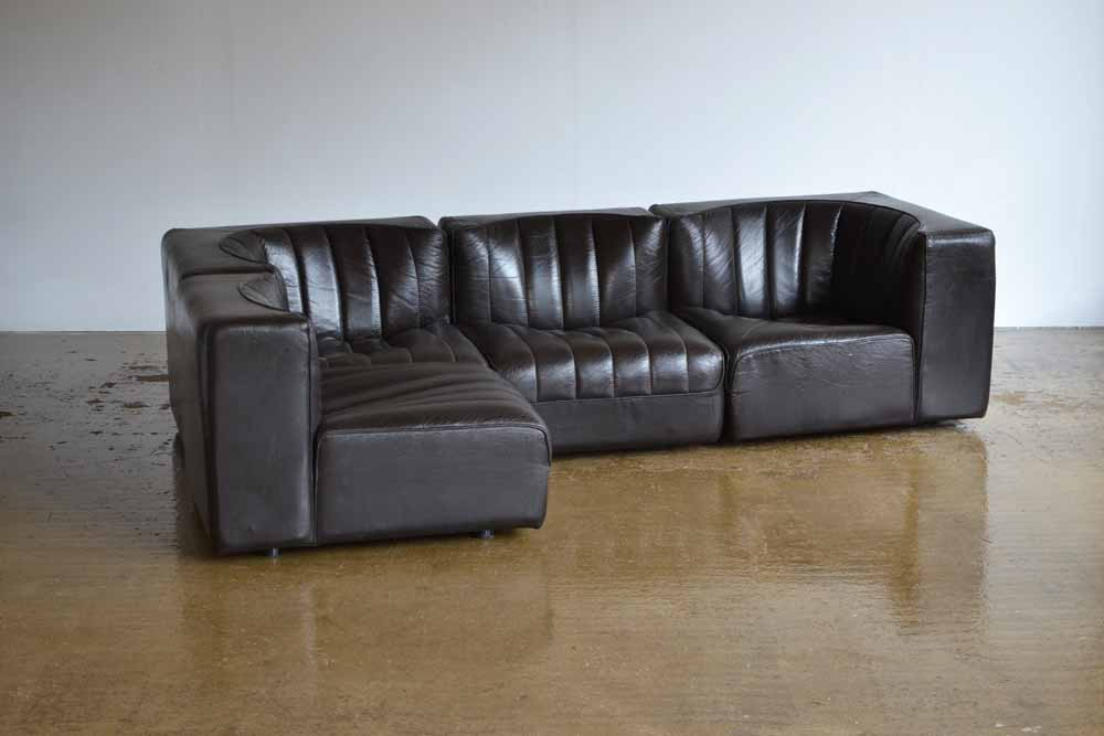 Element Leather Sofa. Tito Angoli for Arflex