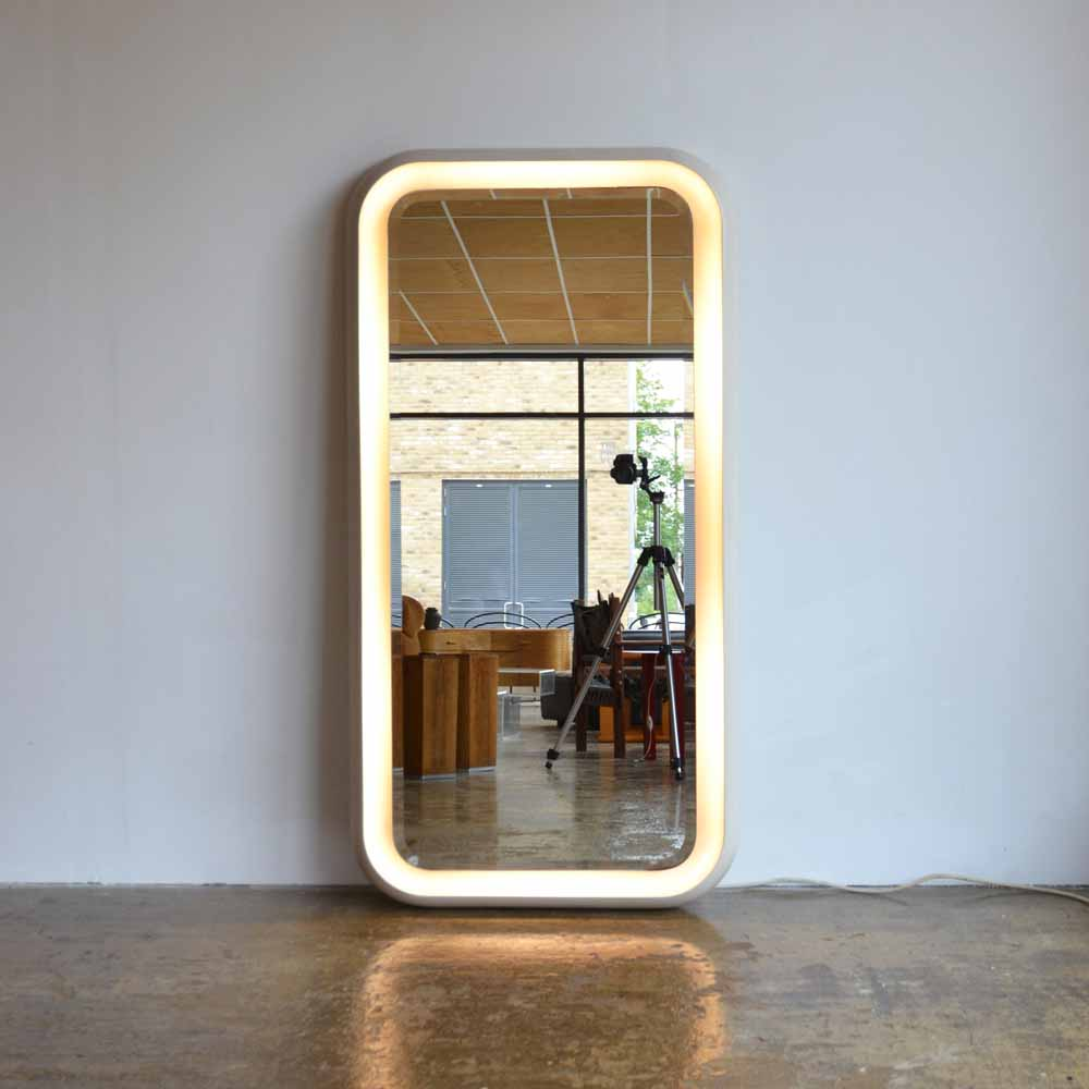 1970's Illuminating Full Length Mirror