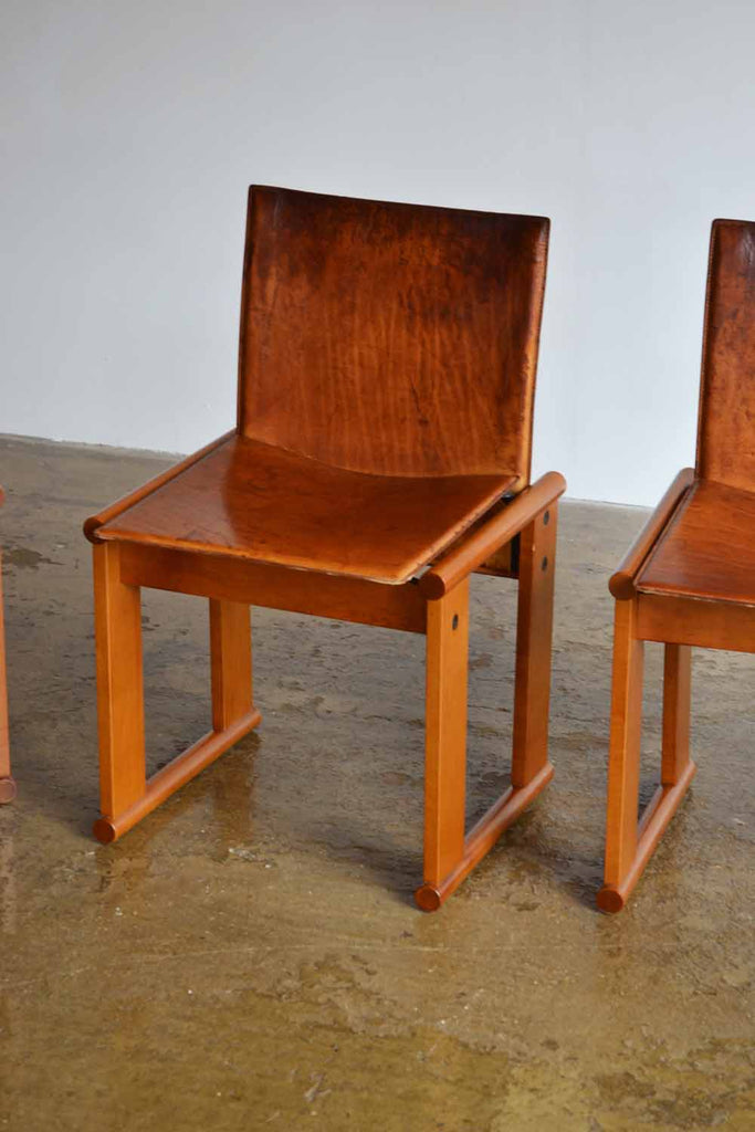 Set of 4 Dining Chairs by Afra & Tobia Scarpa for Molenti