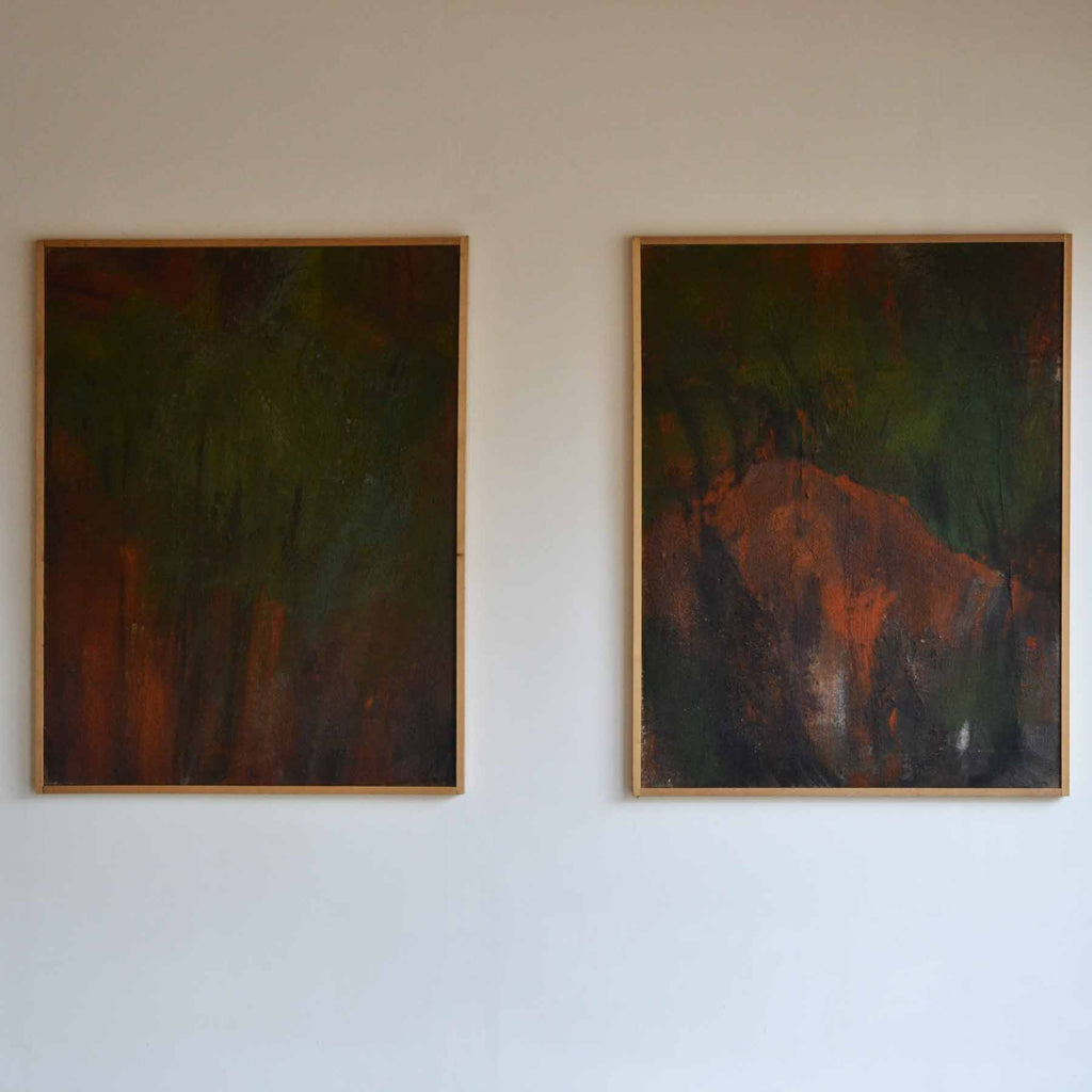 Pair of Canvas works, Mattio Giovanni