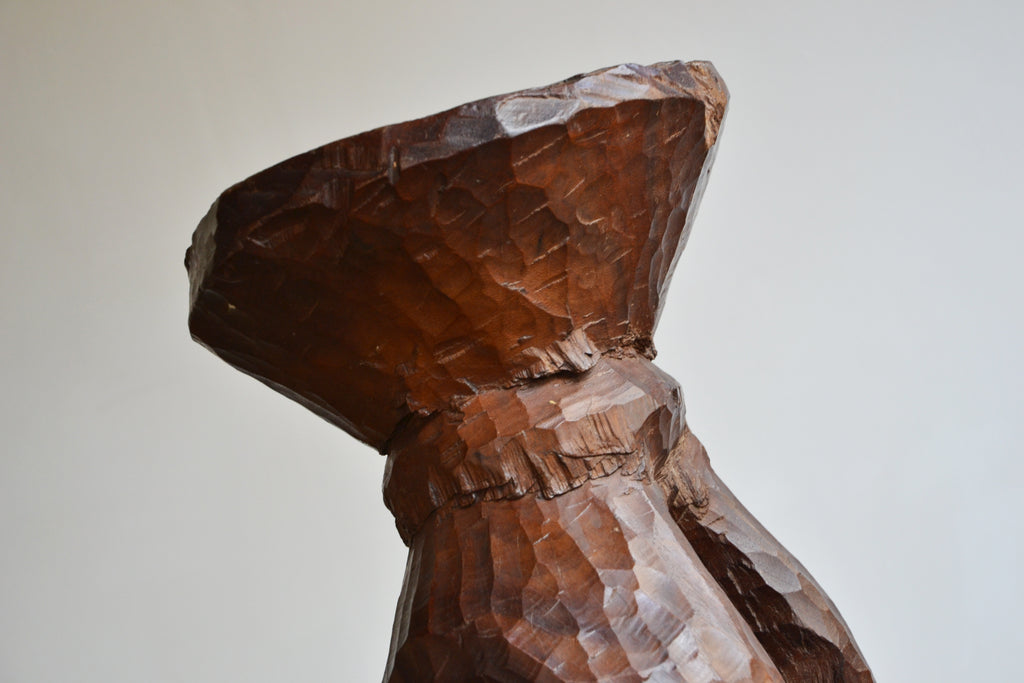 Sculptural Carved Stool