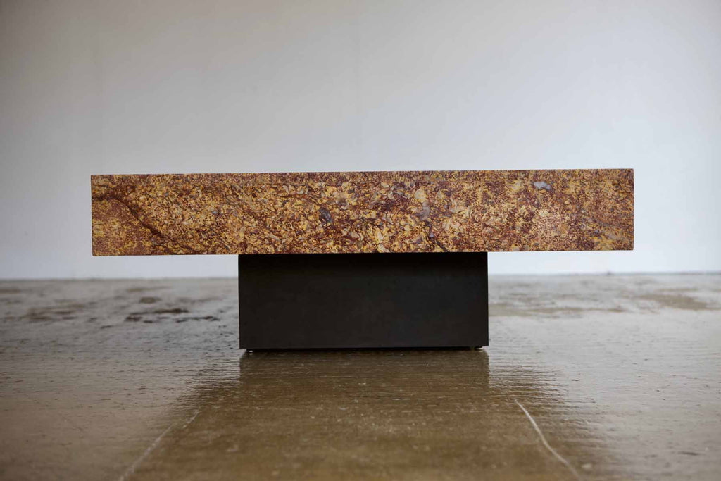 Giant 1970's Marble Plinth Table