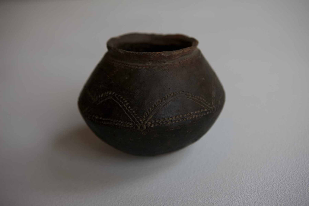 Intricate African Slump Pot