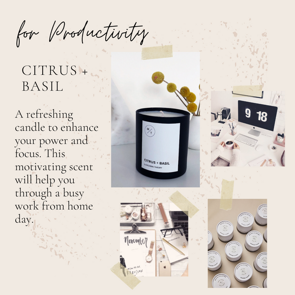 productivity Modern Theory candle