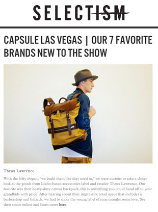 SELECTISM | CAPSULE LAS VEGAS | OUR 7 FAVORITE BRANDS NEW TO THE SHOW