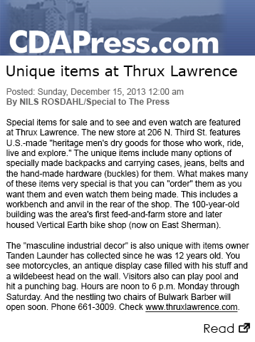 CDA Press: Unique items at Thrux Lawrence