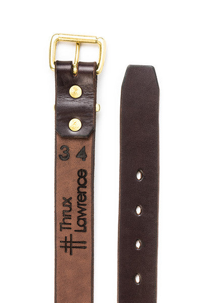Utility Belt | Stock 1.5'' | Dark Brown on Brass