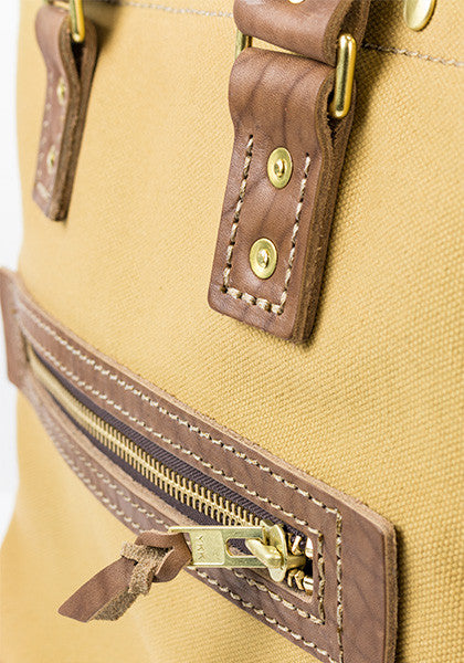 Hoist Tote | Light Brown on Khaki