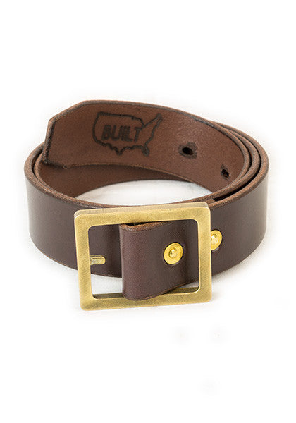 Bulwark Belt | Stock 1.5'' | Dark Brown on Brass