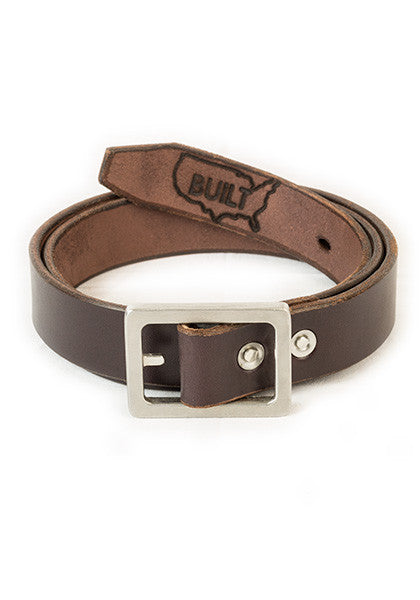 Bulwark: Slim 1.25'' Dark Brown | Heavy Nickel