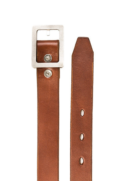 Bulwark Belt | Slim 1.25'' | Light Brown on Heavy Nickel
