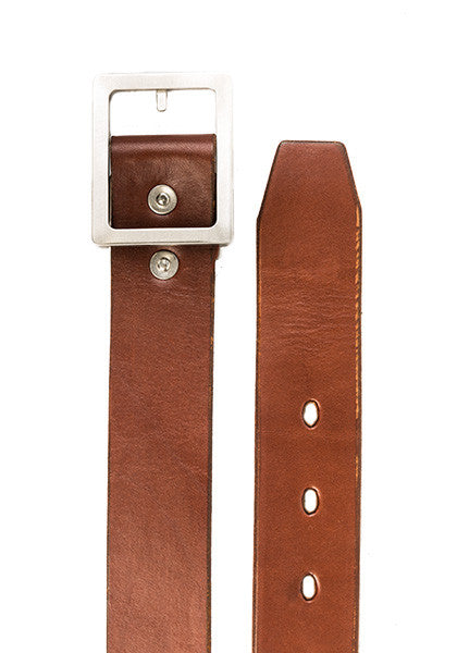 Bulwark Belt | Stock 1.5'' | Light Brown on Nickel