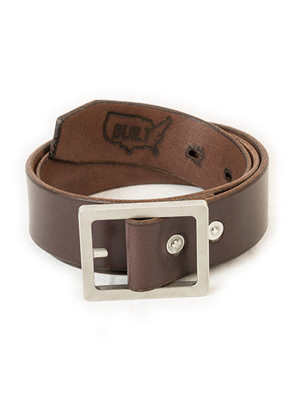 Bulwark Belt | Stock 1.5'' | Dark Brown on Heavy Nickel