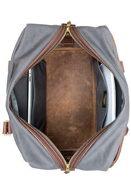 Freight Duffle | Dark Brown on Gray