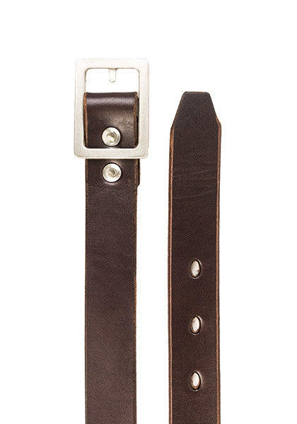 Bulwark Belt | Slim 1.25'' | Dark Brown on Heavy Nickel