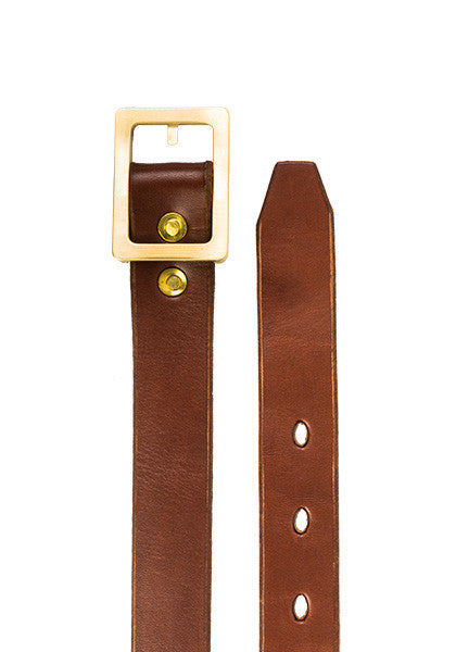 Bulwark Belt | Slim 1.25'' | Light Brown on Brass