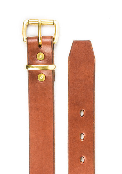Utility Belt | Stock 1.5'' | Light Brown on Brass