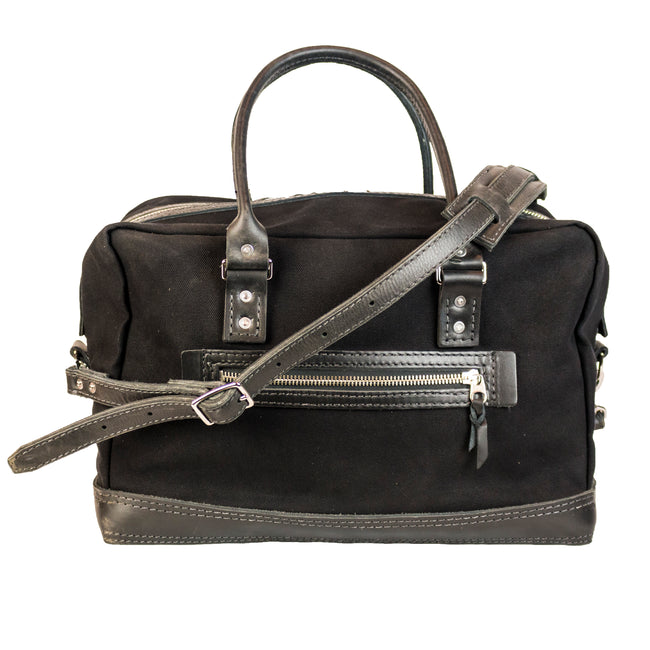 Freight Duffle | Black on Black | Nickel Hardware