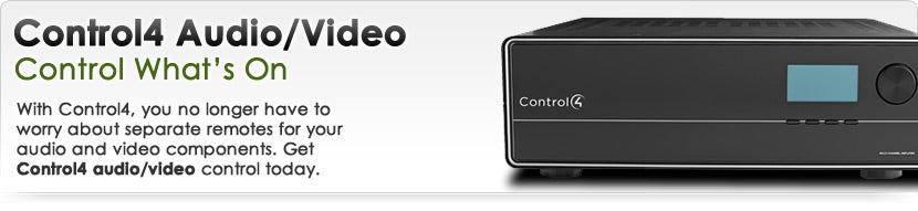 Control4 Audio and Video Equipment
