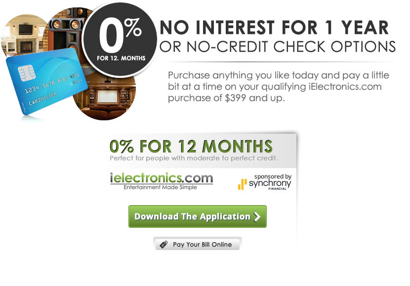 Apply for financing with iElectronics.com or U own