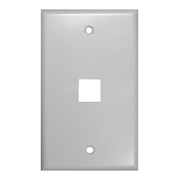 Vanco 1 Socket Keystone Faceplate