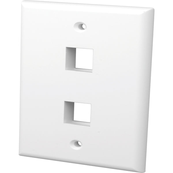 Vanco 2 Socket Keystone Faceplate